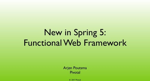 New in Spring Framework 5.0: Functional Web Framework