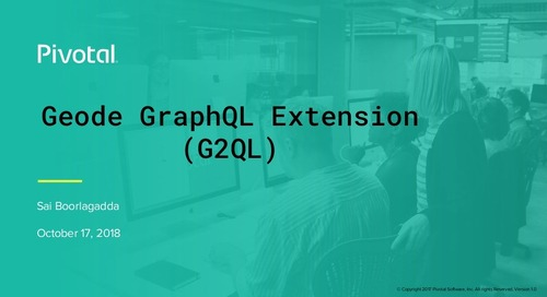 Simplify Access to Data from Pivotal GemFire Using the GraphQL (G2QL) Extension