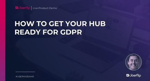 [Webinar] How to Get Your Hub Ready for GDPR