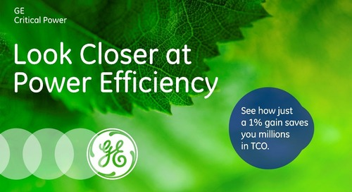 Total Cost of Ownership: Look Closer At Power Efficiency (Why 1% Matters)