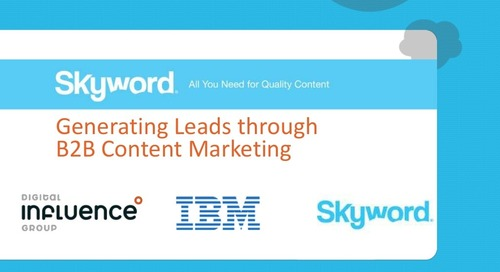 IBM generates leads with B2B content marketing