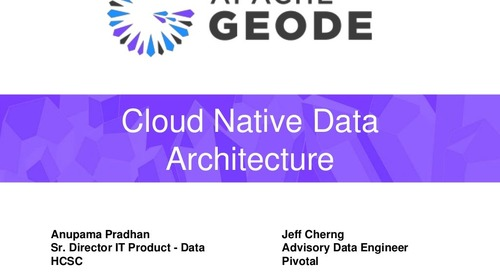 Cloud Native Data Architecture: Break Away From Data Monoliths for Cloud Native Applications