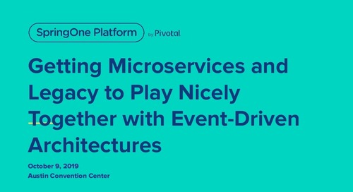 Getting Microservices and Legacy to Play Nicely Together with Event-Driven Architectures