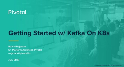 Getting Started with Kafka on k8s