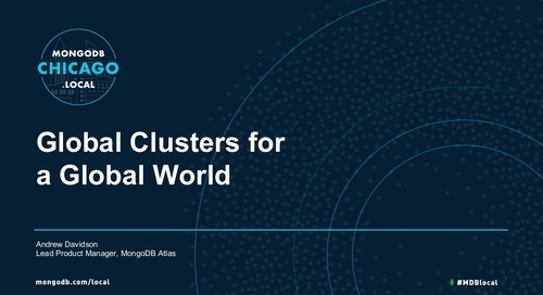 Global Cluster Topologies in MongoDB Atlas