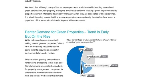 Survey: Property Managers Going Green?