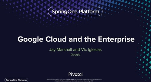 Google Cloud Platform for the Enterprise