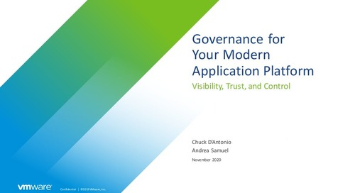 Governance for your Modern Application Platform - November 4, 2020