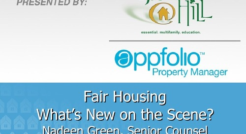 AppFolio / Grace Hill Fair Housing Webinar Featuring Nadeen Green