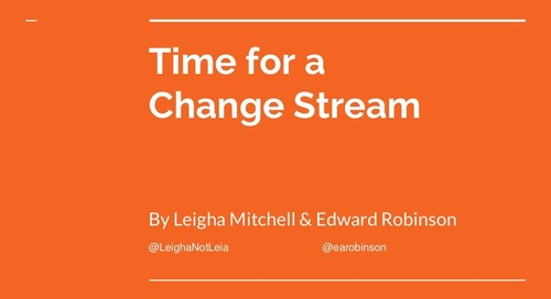 MongoDB World 2018: Time for a Change Stream - Using MongoDB Change Streams to Version Your Database