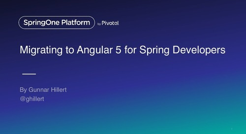 Migrating to Angular 4 for Spring Developers