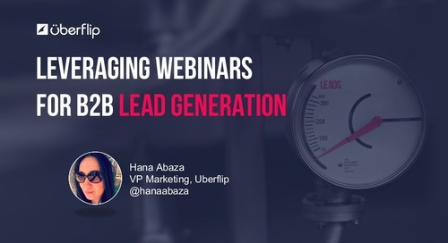How to Leverage Webinars for B2B Lead Generation