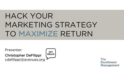 Hack Your Marketing Strategy to Maximize Return