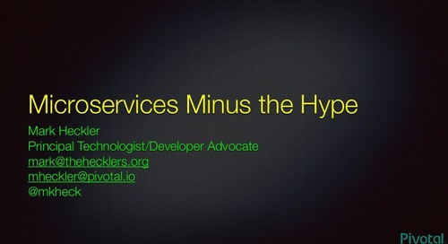 Microservices Minus the Hype