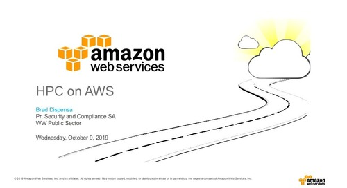 High Performance Computing in AWS, Immersion Day Huntsville 2019