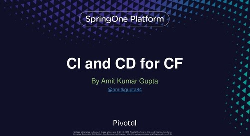 How Cloud Foundry is CI'd