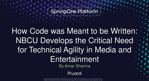 How Code was Meant to be Written: NBCU Develops the Critical Need for Technical Agility in Media and Entertainment
