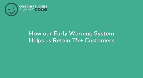 How our Early Warning System Helps Us Retain 12k+ Customers