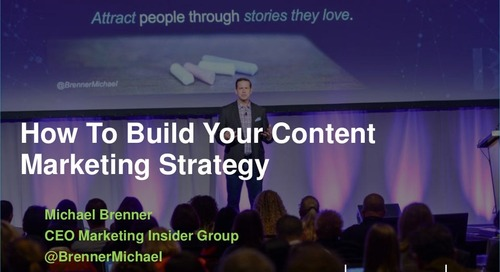Skyword Forward 2016 Preview: How to Build Your Content Marketing Strategy by Michael Brenner