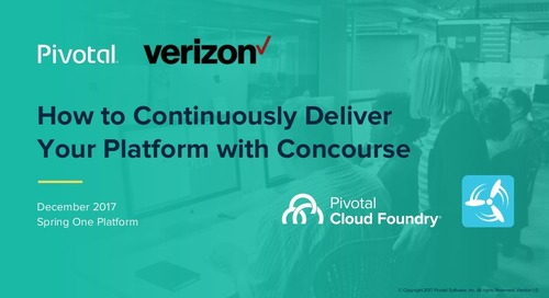 How to continuously deliver your platform with Concourse