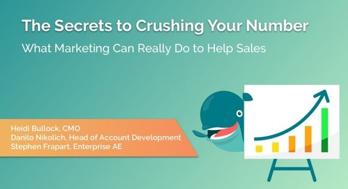The Secrets To Crushing Your Number: How Engagio's Revenue Team Uses Engagio  |  Engagio
