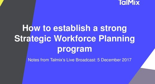 How to establish a strong Strategic Workforce Plan