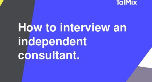 How to interview an independent consultant