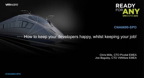 How To Keep Your Developers Happy, Whilst Keeping Your Job!