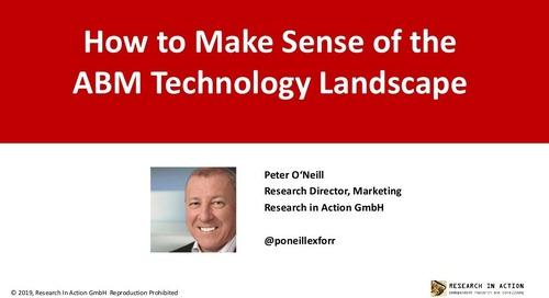 How to Make Sense of the ABM Technology Landscape Slides  |  Engagio