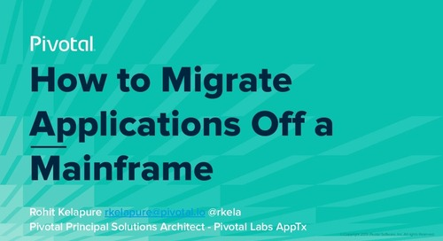 How to Migrate Applications Off a Mainframe