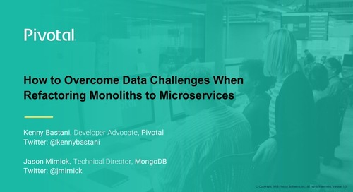 How to Overcome Data Challenges When Refactoring Monoliths to Microservices