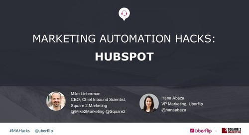 Marketing Automation Hacks 2016: HubSpot