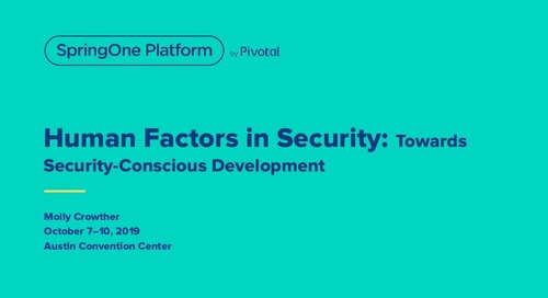 Human Factors in Security: Toward Security-Conscious Development