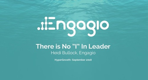 "There is No ""I"" In Leader from HYPERGROWTH 2018"