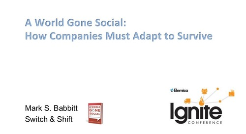 "Ignite2015 EU Mark Babbitt - ""A World Gone Social: How Companies Must Adapt to Survive"" Slides"