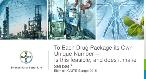 "Ignite2015 EU Stefan Artlich - ""To Each Drug Package its Own Unique Number - Is this Feasible and Does it Make Sense?"" Slides"
