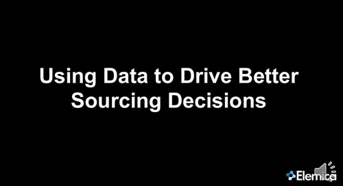 "Ignite2015 EU Sourcing Breakout ""Using Data to Drive Better Sourcing Decisions"" Slides"