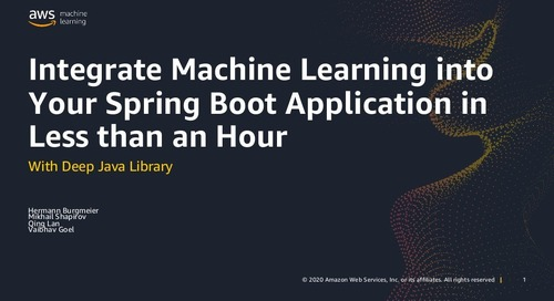 Integrate Machine Learning into Your Spring Application in Less than an Hour