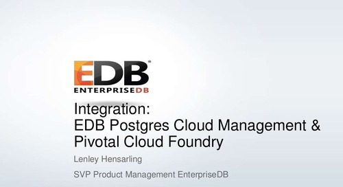 Integrating Hybrid Cloud Database-as-a-Service with Cloud Foundry's Service​ ​Broker