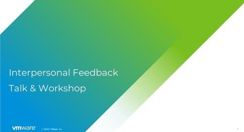 Interpersonal feedback talk and workshop