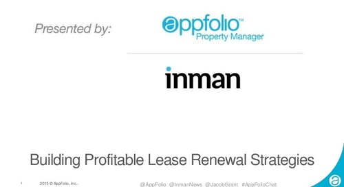 AppFolio Webinar: Building Profitable Lease Renewal Strategies