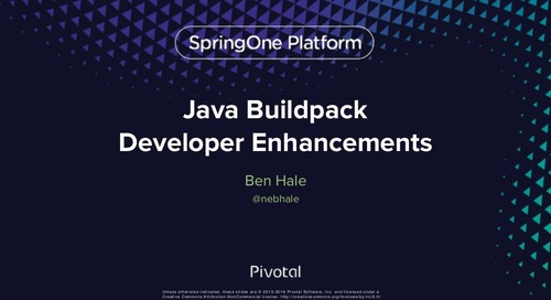 Java Buildpack Developer Enhancements
