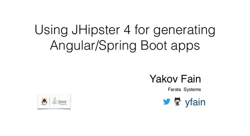 Using Jhipster 4 for Generating Angular/Spring Boot Apps