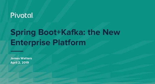 Spring Boot+Kafka: the New Enterprise Platform