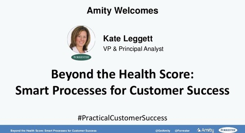 Beyond the Health Score: Smart Processes for Customer Success Slides