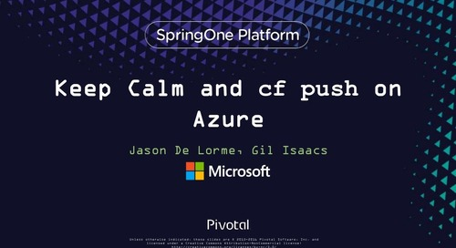 Keep Calm and CF Push on Azure