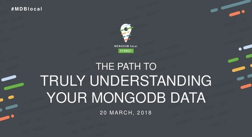 Data Analytics: Understanding Your MongoDB Data