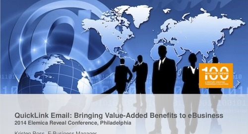 "reveal2014 NA Fulfillment Breakout – Kristen Ross, Wacker: ""Automating Email and Faxed Orders via QuickLink"""