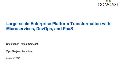 Large-Scale Enterprise Platform Transformation with Microservices, DevOps, and PaaS