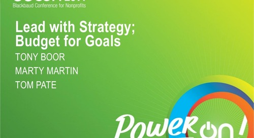 Lead with Strategy: Budget for Goals